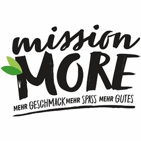 Logo mission More Veggienale vegane Snacks