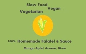 Logo Slow Food Vegetarian Vegan Falafel Imbiss Foodtruck